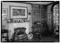 LIBRARY, SHOWING FIREPLACE - Reverend Timothy Walker House, 276 North Main Street, Concord, Merrimack County, NH HABS NH,7-CON,7-5.tif