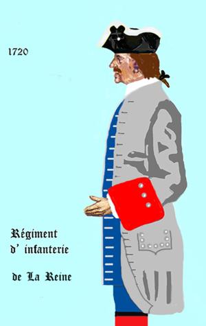Régiment de la Reine - Uniform of the Régiment de la Reine, c.1720