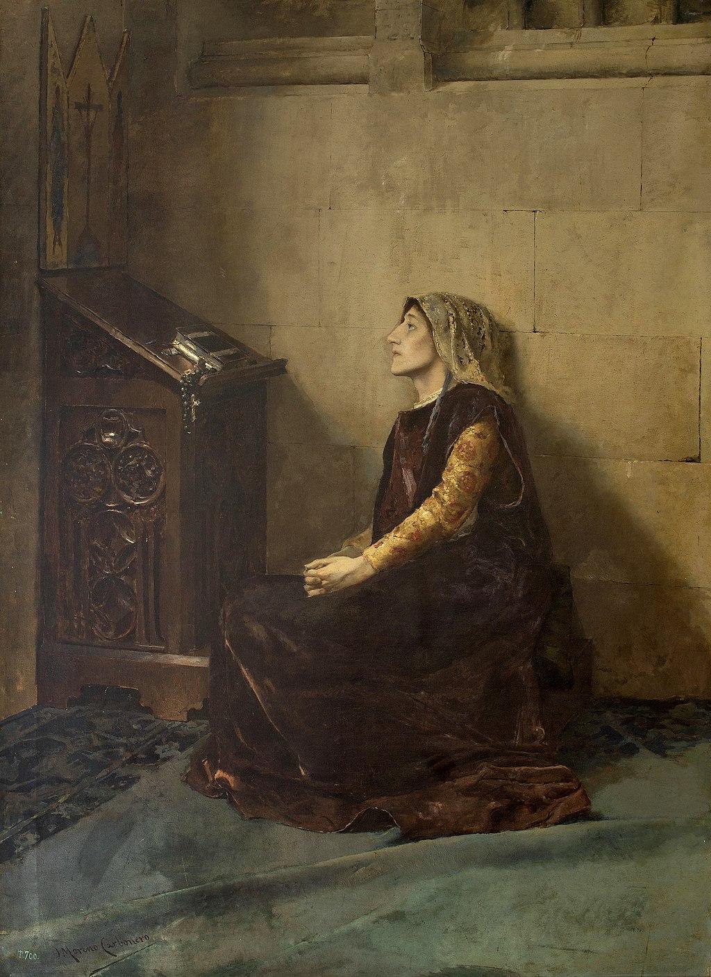 Blanca II de Navarra en su encierro en Olite. Museo del Prado
