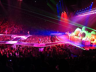 ArtRave: The Artpop Ball - The tour stage showing the catwalks protruding into the audience