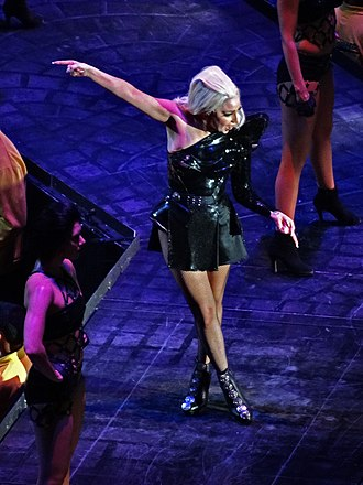 "Telephone (song) - Gaga performing ""Telephone"" on the Born This Way Ball tour"