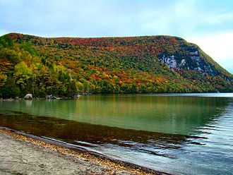Mount Hor (Vermont) - Mount Hor from the shores of Lake Willoughby