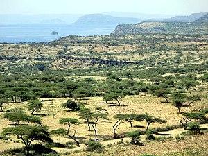 Lake Shala - Lake Shala in background