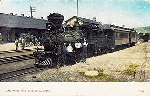 Lake Tahoe Railway and Transportation Company - Lake Tahoe bound train at Truckee, California