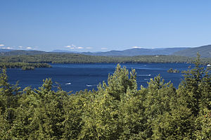 New Hampshire - Lake Winnipesaukee and the Ossipee Mountains