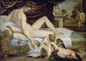 Lambert Sustris - Lambert Sustris, Venus and Love, Louvre, 1554