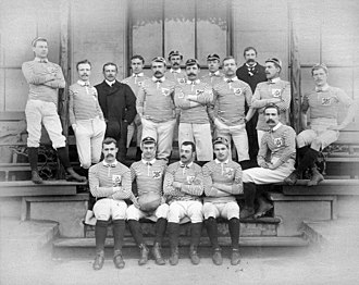 Lancashire County Rugby Football Union - The Lancashire team before a match against Middlesex in 1887
