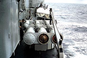 T 47-class destroyer - Triple torpedo launcher on Kersaint