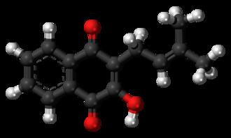 Lapachol - Image: Lapachol molecule ball