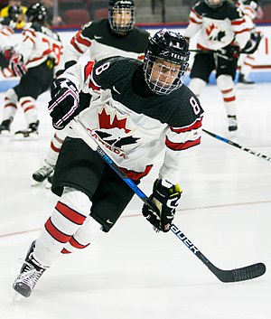 Laura Fortino - Laura Fortino warming up for Team Canada in 2017