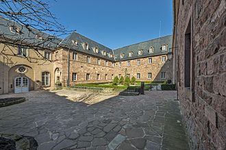 Mont Sainte-Odile Abbey - Courtyard of the cloister