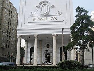 Le Pavillon Hotel - The Romanesque facade of the Le Pavillon on Poydras Street