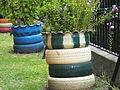 Leeds Industrial Museum tyre planter 7195.JPG