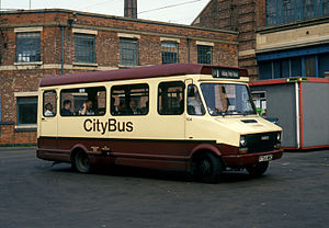 First Leicester - Leicester CityBus Iveco in Leicester in 1991