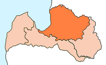 Location of Archdiocese of Riga in Latvia