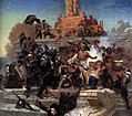 Leutze, Emanuel — Storming of the Teocalli by Cortez and His Troops — 1848.jpg