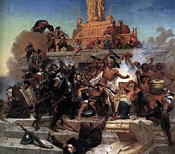 Emanuel Leutze: The Storming of Teocalli by Cortez and his Troops