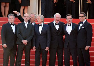 Steven Soderbergh - Soderbergh (second from left) with cast and crew of Behind the Candelabra at the 2013 Cannes Film Festival