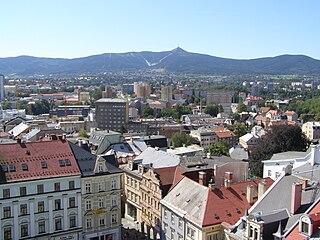 Liberec city in the Czech Republic