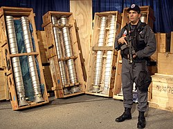 In 2003, Libya admitted that the nuclear weapons-related material including these centrifuges were acquired from Pakistan.