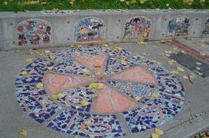 Licton Springs, Seattle - Mosaic tile at Licton Springs Park, Seattle, Washington