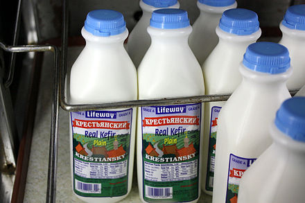 Lifeway, a company based in Chicago and started by a Russian immigrant, is a big producer of Russian dairy products LifewayKefir.jpg