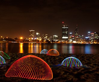 Swan River (Western Australia) - Light painting on the banks of the Swan River