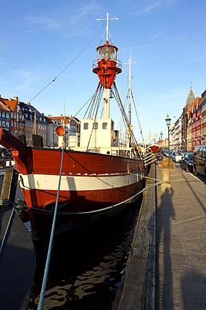 Lightvessel Gedser Rev - Lightvessel No. XVII Gedser Rev at Nyhavn in Copenhagen