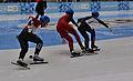 Lillehammer 2016 - Short track 1000m - Men Finals - Daeheon Hwang, Wei Ma, Shaoang Liu, Kiichi Shigehiro and Andras Sziklasi 5.jpg