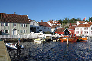 Brekkestø Village in Southern Norway, Norway