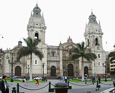 Colonial Cathedral Of Lima In Peru