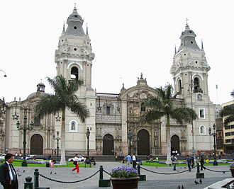Spanish Colonial architecture - Colonial Cathedral of Lima, in Peru
