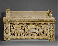 Limestone sarcophagus- the Amathus sarcophagus MET DT257.jpg