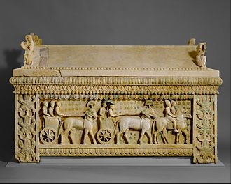 Amathus - 5th century BC Amathus sarcophagus found in Amathus integrates Greek, Cypriot, and Oriental features