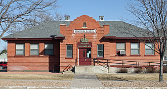 Fort Morgan, Colorado - Lincoln School at 914 State Street is listed on the National Register of Historic Places and is the location of the School for the Performing Arts.
