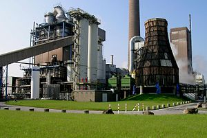 Fluidized bed - Oldest power station utilizing circular fluidised bed technology, in Lünen, Germany