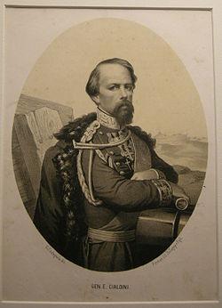 Litografia ballagny, fine XIX sec. gen. enrico cialdini.JPG