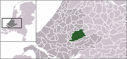Highlighted position of Krimpenerwaardin a municipal map of South Holland