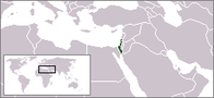 Location map of Israel