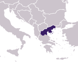 Macedonia's location in south-eastern Europe
