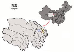 Vị trí tại Thanh Hải (đỏ)
