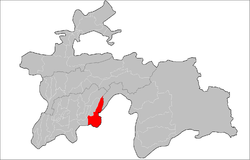 Shamsiddin Shohin District Location in Tajikistan