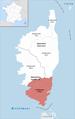 Locator map of Arrondissement Sartène 2017.png