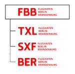 Corporate Design des Flughafens mit Piktogrammen, Leitfarben, Hausschrift und Logos