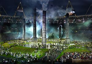 Stratford, London - London 2012 Opening Ceremony – Industrial Revolution