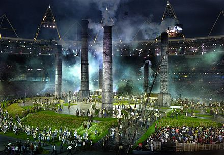London 2012 Opening Ceremony - Industrial Revolution London 2012 olympics industrial revolution.jpg