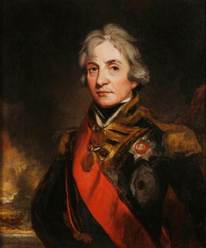 Invasion of Corsica (1794) - Lord Nelson, John Hoppner, c.1805. RNM. The Corsican campaign is often credited as the first in which Nelson rose to prominence within the Royal Navy