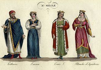 Emma of Italy - Lothair with Emma; Emma's son Louis V with Adelaide-Blanche of Anjou