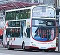 Lothian Buses bus 857 Volvo B9TL Wrightbus Eclipse Gemini SN57 DFK Harlequin livery.jpg
