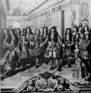 War of succession - After Charles II's death, Louis XIV of France proclaims his grandson Philip of Anjou the new Spanish king (November 1700), triggering the War of the Spanish Succession (1701–1714).